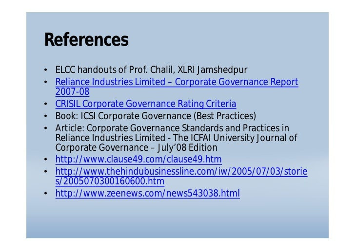 reliance industries limited business environment analysis Reliance industries limited- authorstream  segments include textile, retail business,  for the safety of the community through process hazard analysis.