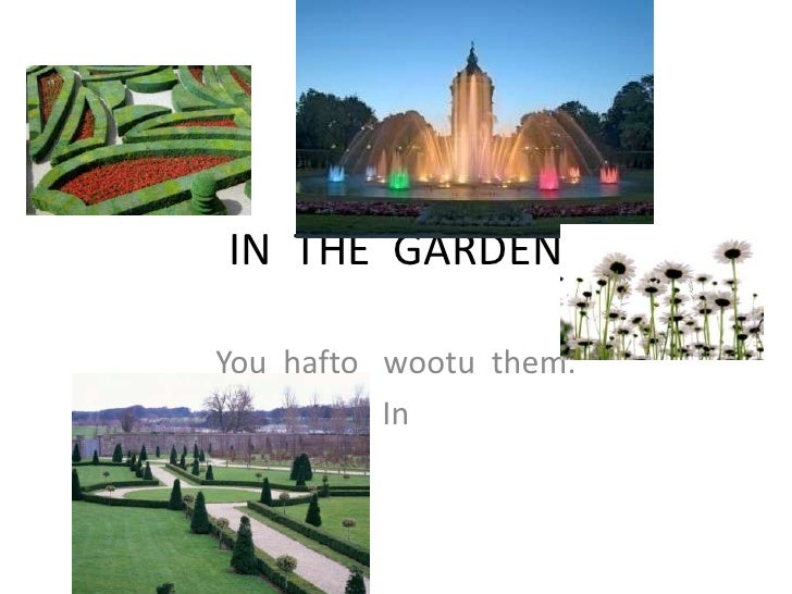 IN  THE  GARDEN<br />You  haftowootu  them.<br />In        <br />