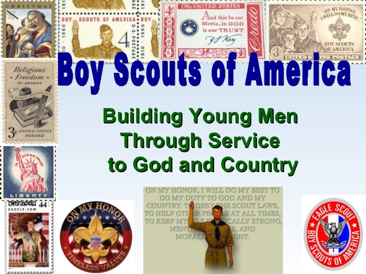 Building Young Men  Through Service  to God and Country Boy Scouts of America