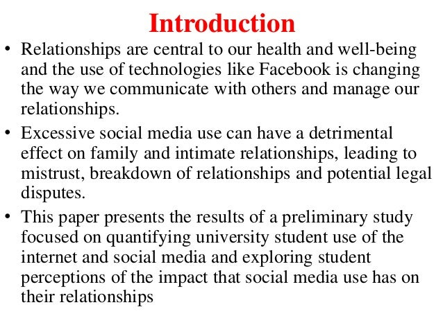 good effects of social media on students interpersonal relationship