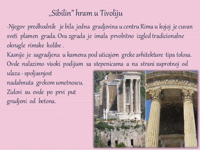 """,,Sibilin"""" hram u Tivoliju -Njegov predhodnik je bila jedna gradjevina u centru Rima u kojoj je cuvan sveti plamen grada. ..."""