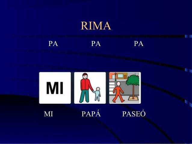 RIMA PA PA PA MI PAPÁ PASEÓ