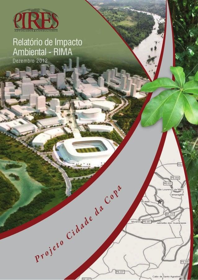 Relatório de ImpactoAmbiental - RIMADezembro 2012                                            a                            ...