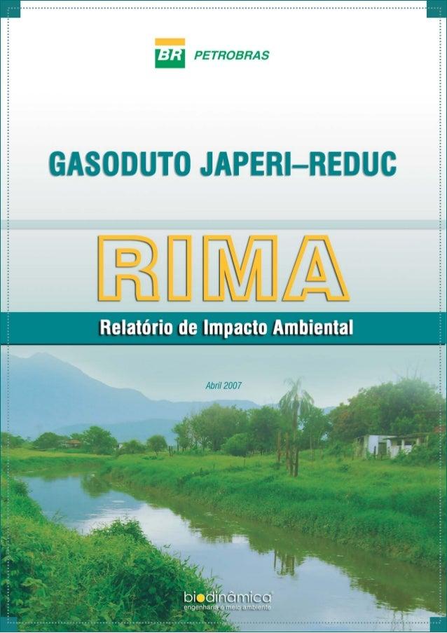 RelatóriodeImpactoAmbiental SUMÁRIO i IDENTIFICAÇÃO CARACTERIZAÇÃO Objetivo O Gás Natural A Instalação A Faixa de Servidão...