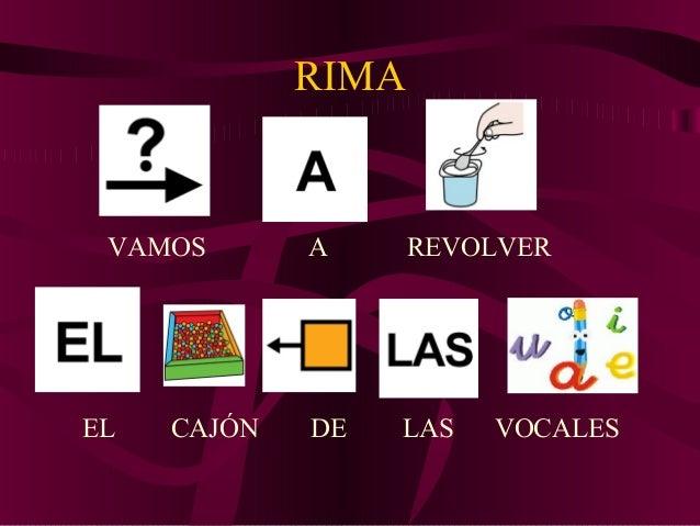 RIMA VAMOS A REVOLVER EL CAJÓN DE LAS VOCALES