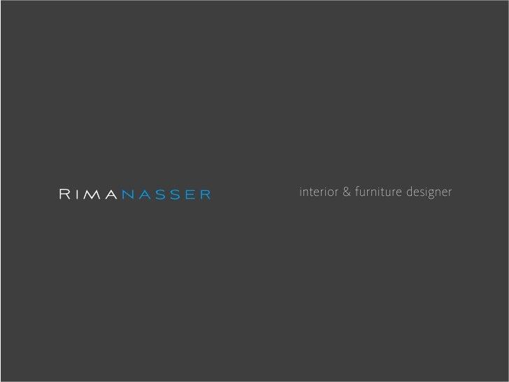 interior & furniture designer