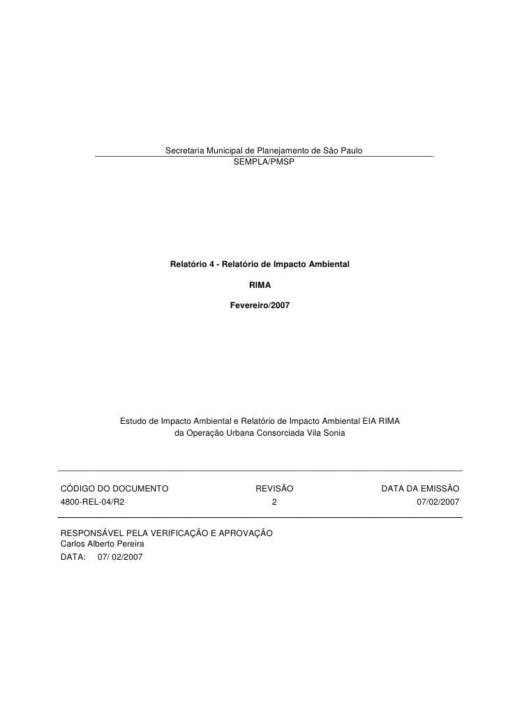 Relatório de Impacto Ambiental_OUCVS