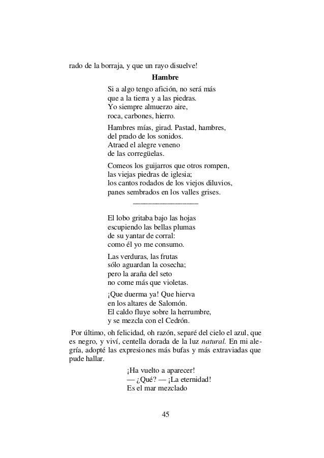 Rimbaud, arthur una temporada en el infierno