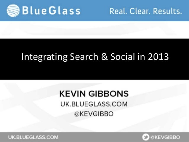 Integrating Search & Social in 2013