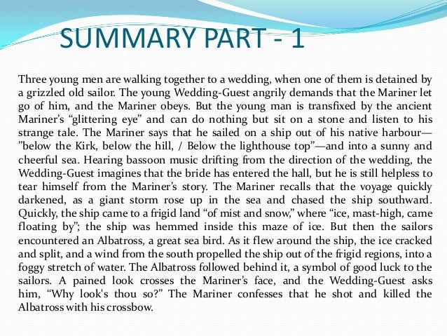 The Rime Of The Ancient Mariner Summary And Analysis The Best