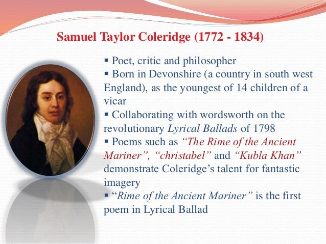 samuel taylor coleridge themes