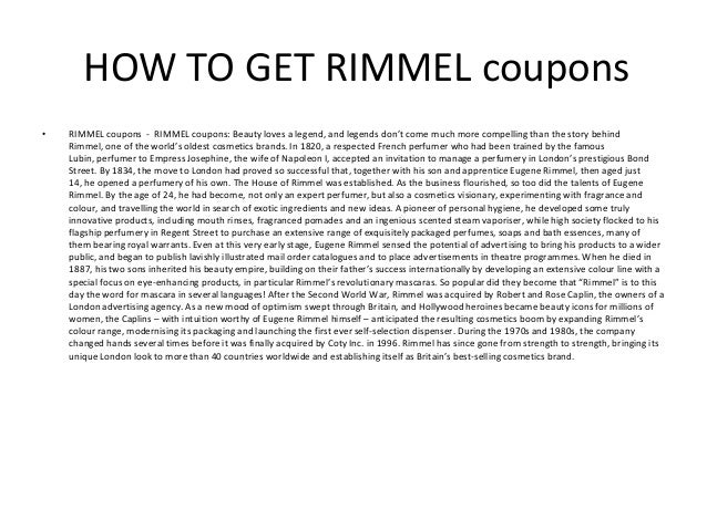 image about Rimmel Coupons Printable named RIMMEL discount codes - Printable RIMMEL discount coupons