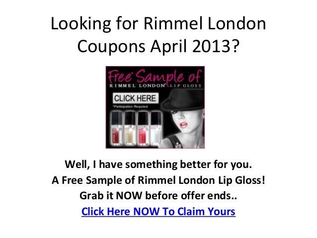 Rimmel london free samples.