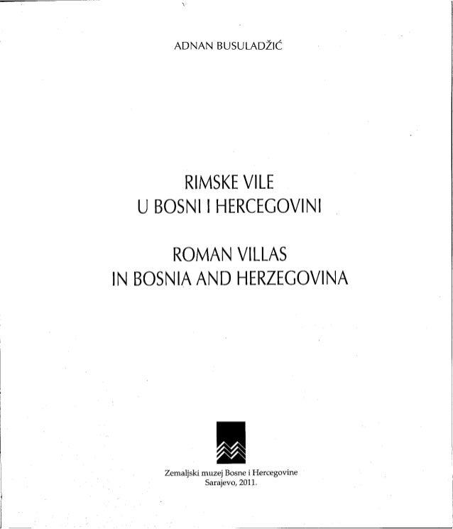 Rimske vile u Bosni i Hercegovini