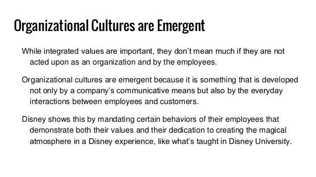 Organizational behavior at disney