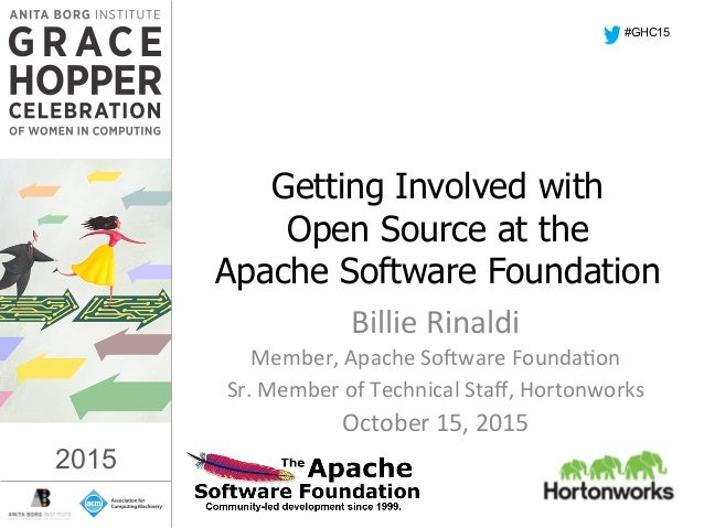 2015   Getting Involved with Open Source at the Apache Software Foundation Billie  Rinaldi   Member,  Apache  So...