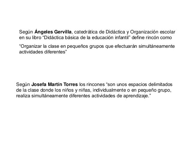 """Según Ángeles Gervilla, catedrática de Didáctica y Organización escolar en su libro """"Didáctica básica de la educación infa..."""