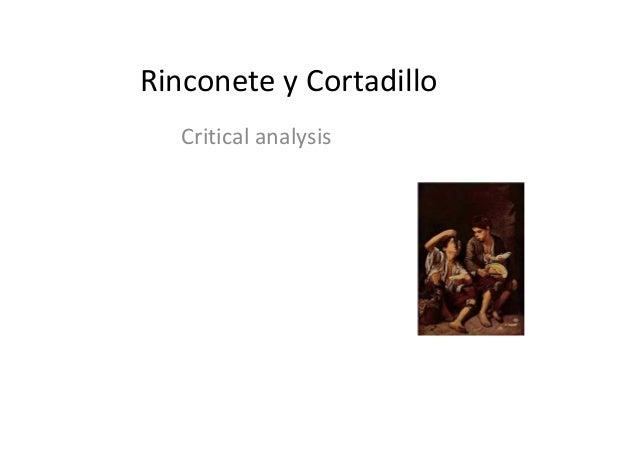 Rinconete y Cortadillo Critical analysis