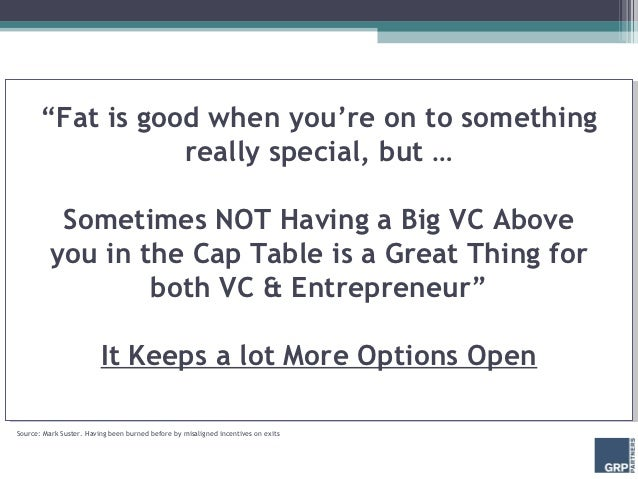 """""""Fat is good when you're on to something                 really special, but …          Sometimes NOT Having a Big VC Abov..."""