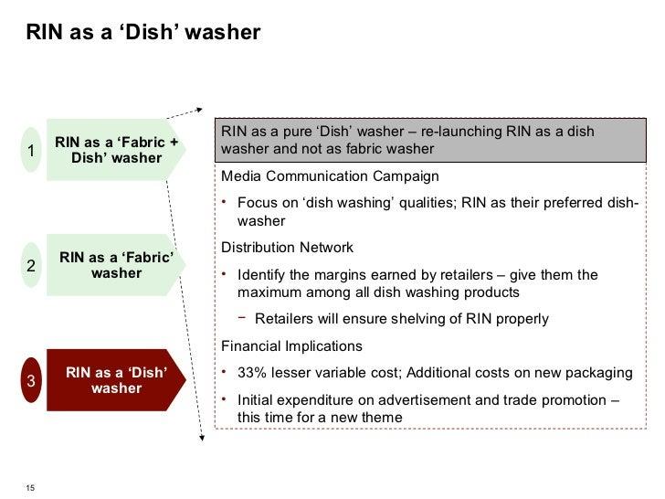 RIN as a 'Dish' washer RIN as a 'Fabric' washer RIN as a 'Fabric + Dish' washer RIN as a 'Dish' washer 1 2 3 <ul><li>RIN a...