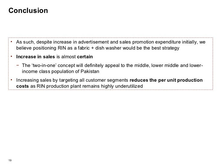 Conclusion <ul><li>As such, despite increase in advertisement and sales promotion expenditure initially, we believe positi...