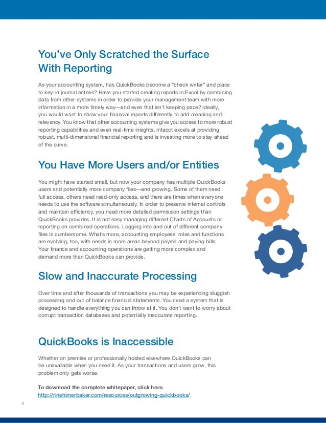 Outgrowing QuickBooks: A Guide for Growing Businesses Whose Entry-Level Software Is Holding Them Back Slide 3