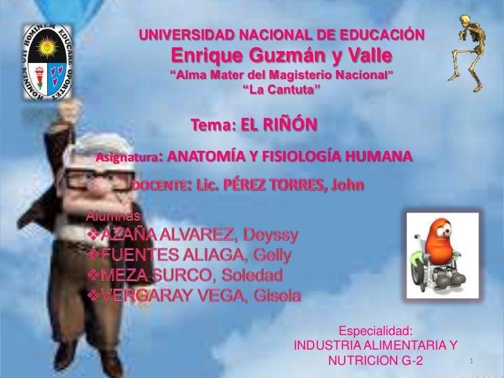 """UNIVERSIDAD NACIONAL DE EDUCACIÓN         Enrique Guzmán y Valle         """"Alma Mater del Magisterio Nacional""""             ..."""