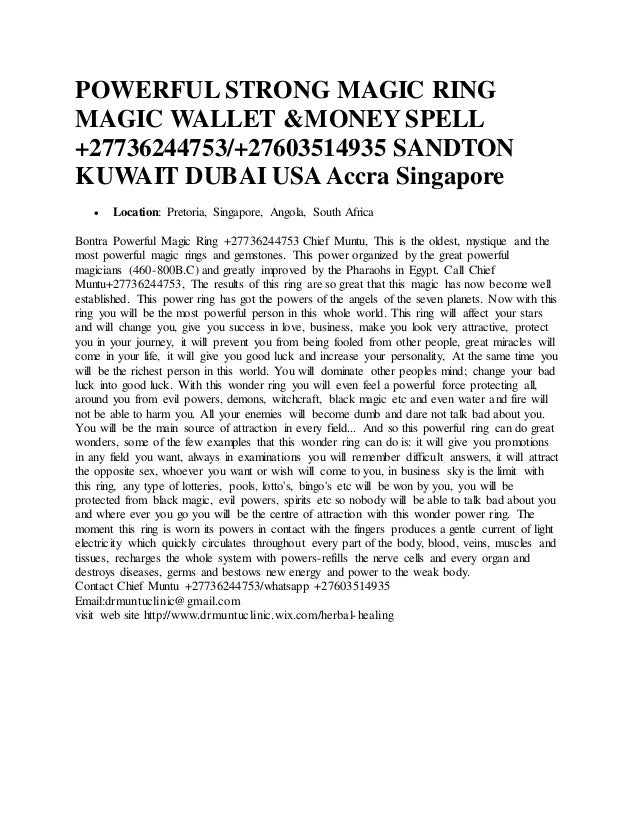 Fast Money spells Magic Rings Get out of debt Spell