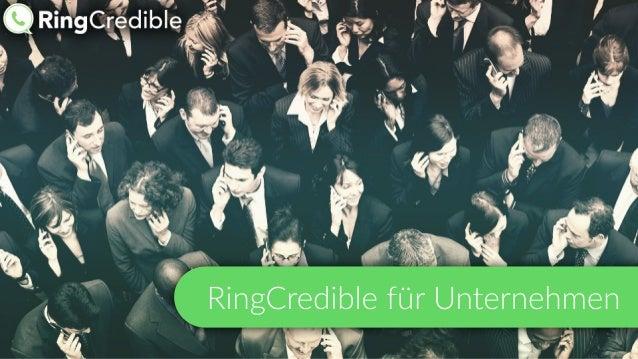 RingCredible für Unternehmen