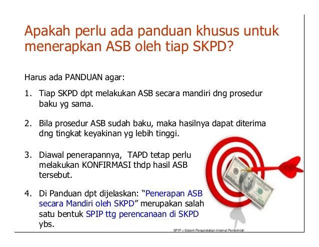 Apakah perlu ada panduan khusus untukmenerapkan ASB oleh tiap SKPD?Harus ada PANDUAN agar:1. Tiap SKPD dpt melakukan ASB s...