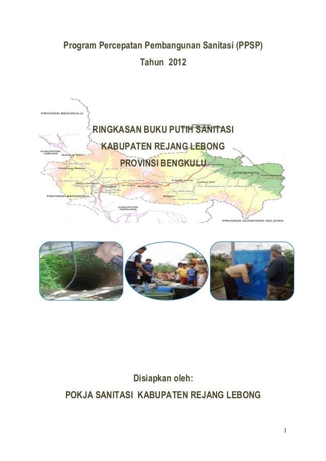 Program Percepatan Pembangunan Sanitasi (PPSP)                 Tahun 2012      RINGKASAN BUKU PUTIH SANITASI        KABUPA...