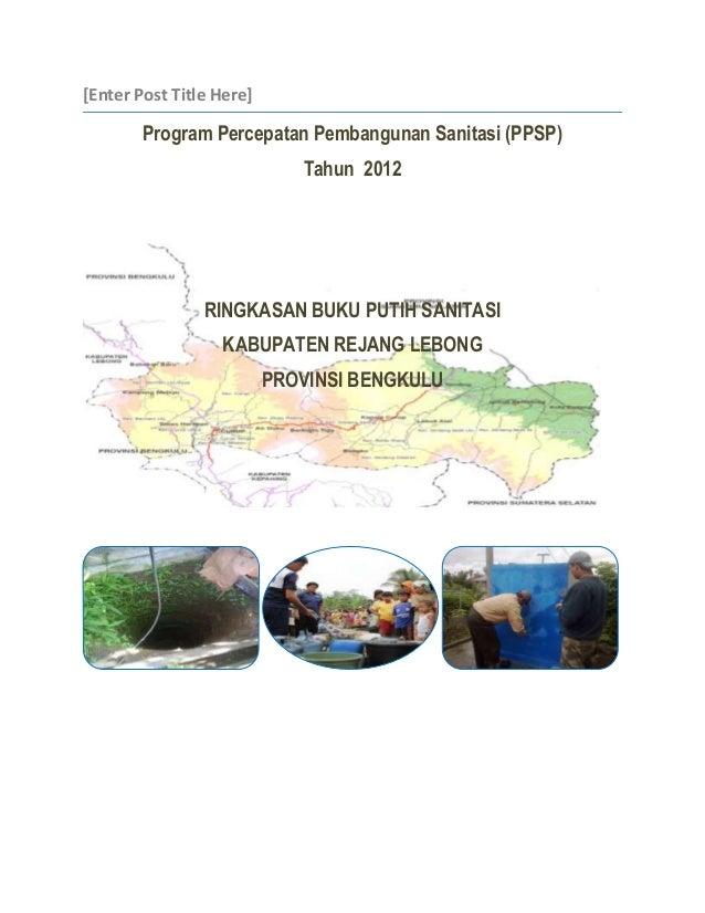 [Enter Post Title Here]        Program Percepatan Pembangunan Sanitasi (PPSP)                             Tahun 2012      ...