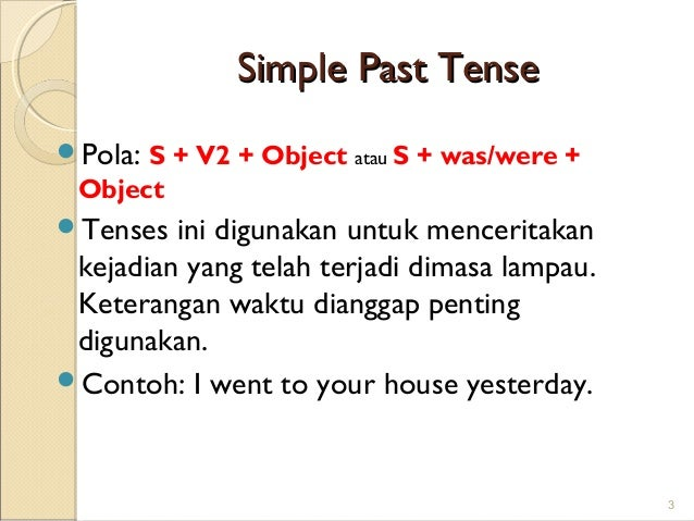 Contoh Dialog Simple Past Tense Yinatoh