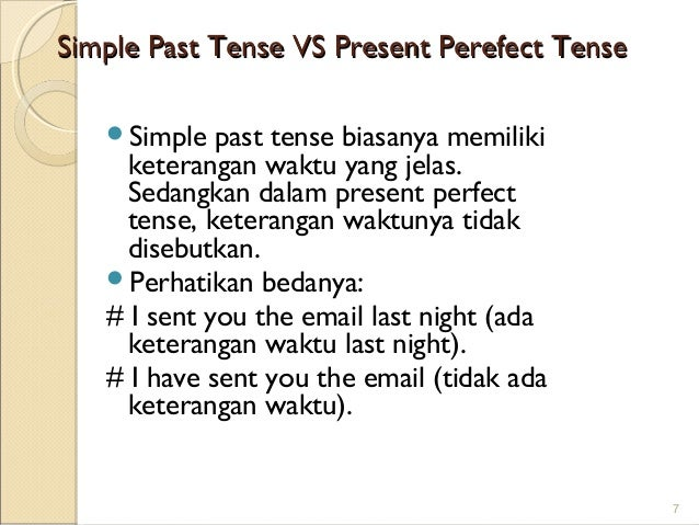 tenses and conjuctions for students