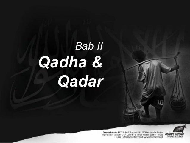 Bab IIQadha &Qadar