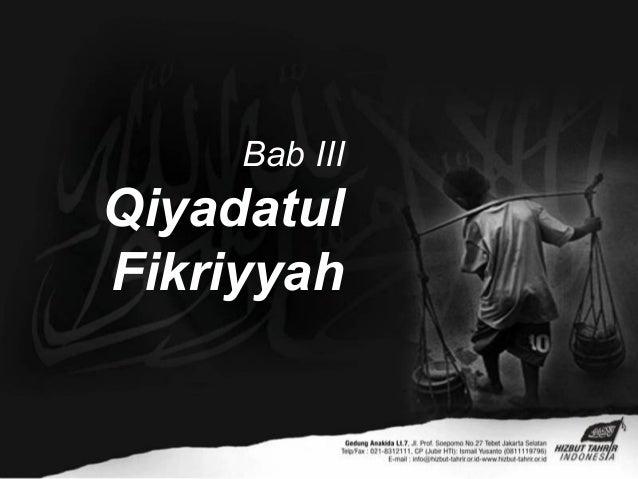 Bab IIIQiyadatulFikriyyah