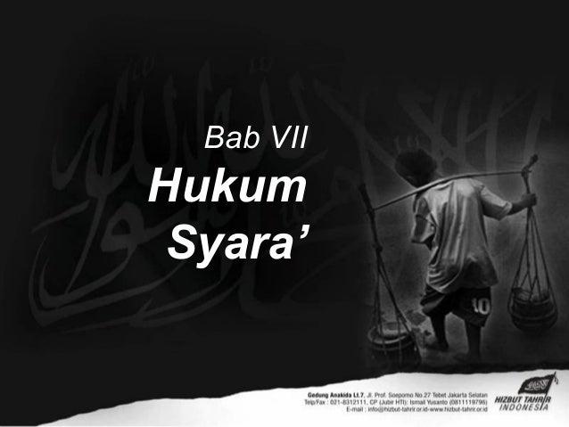 Bab VIIHukumSyara'