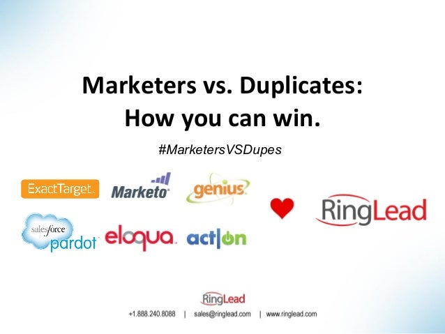 Marketers vs. Duplicates: How you can win. #MarketersVSDupes