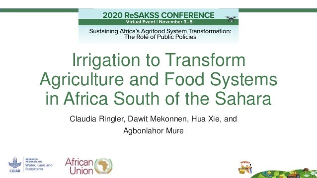 Irrigation to Transform Agriculture and Food Systems in Africa South of the Sahara Claudia Ringler, Dawit Mekonnen, Hua Xi...