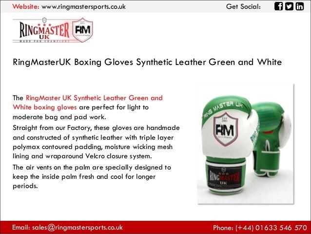 Large RingMasterUK Adults Bag Mitts Genuine Leather Green