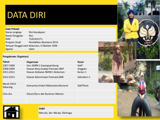 Rini Handayani 7101413171 Ppt Biodata