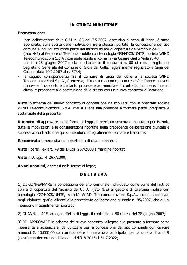 Rinnovo contratto wind20130140 g for Contratto 3 2