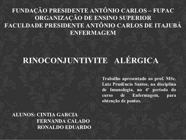 FUNDAÇÃO PRESIDENTE ANTÔNIO CARLOS – FUPAC       ORGANIZAÇÃO DE ENSINO SUPERIORFACULDADE PRESIDENTE ANTÔNIO CARLOS DE ITAJ...