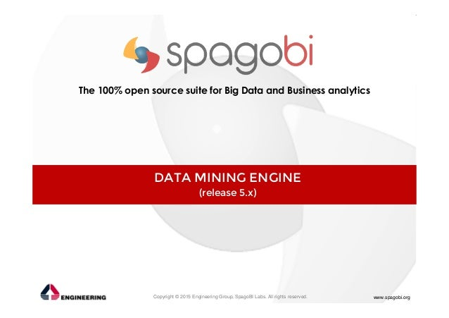 Copyright © 2015 Engineering Group, SpagoBI Labs. All rights reserved. www.spagobi.org The 100% open source suite for Big ...