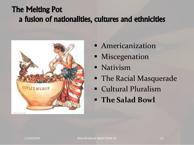America, Melting Pot or Salad Bowl Society?