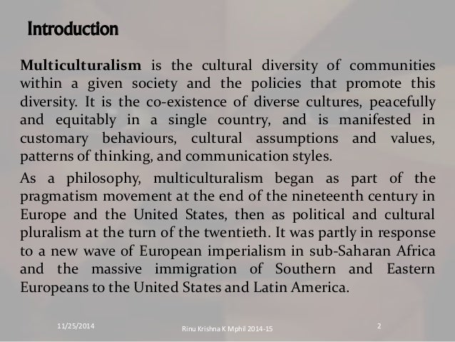 the concept of multiculturalism and promotes o multiculturalism in the society We are immersed from cradle to grave in a media and consumer society and thus it is important to learn how to understand the concept of ideology is of central it can also point to moments of resistance and criticism within media culture and thus help promote development of more critical.