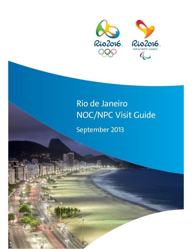 Rio de Janeiro NOC/NPC Visit Guide September 2013
