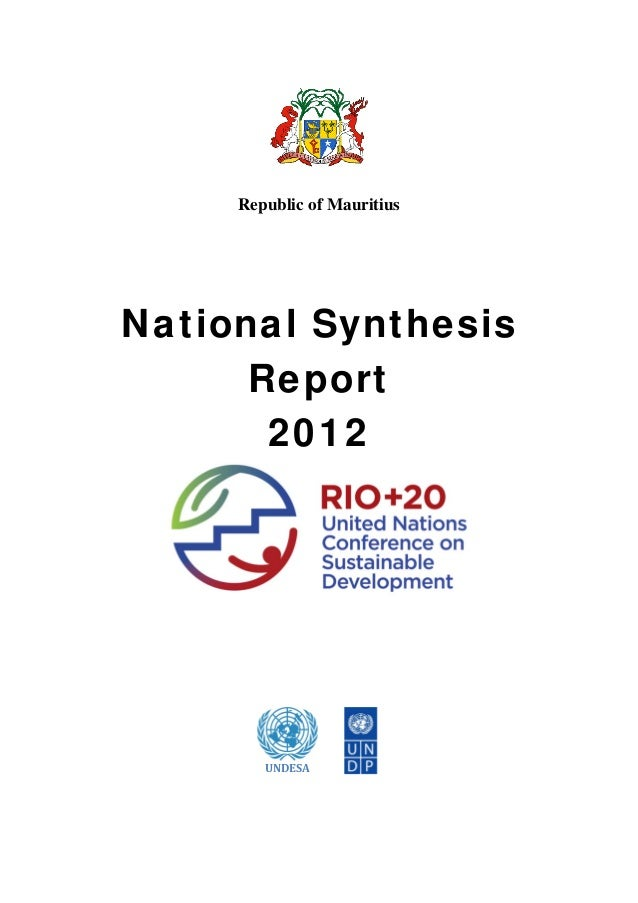 Republic of MauritiusNational Synthesis      Report       2012                                                    ...
