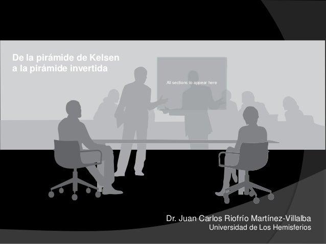 De la pirámide de Kelsen a la pirámide invertida Dr. Juan Carlos Riofrío Martínez-Villalba Universidad de Los Hemisferios ...