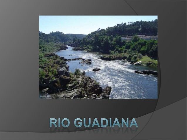 Rio GuadianaO  rio Guadiana nasce nas lagoas de Ruidera, em Espanha. Tem   de extensão 829 km, percorrendo 260 km em Por...